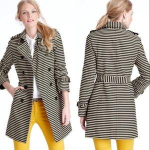 Ann Taylor Loft Striped Trench Coat